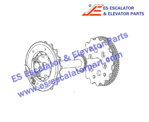 ESXIZIESOTIS XAA26170T4 Upper station main shaft with auxilia