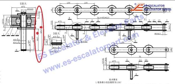 ESThyssenkruppKrupp Velino Step chain FT822 1705536300