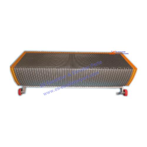 Escalator Step W/Demarcation 1000mm 70mm roller