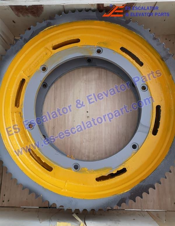 kone Escalator KM5009210H01 main driving motor sprokect