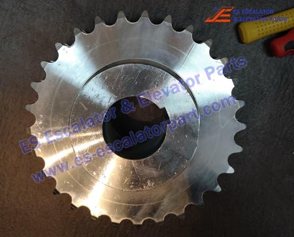 kone Escalator KM5201052H01 main driving motor sprokect