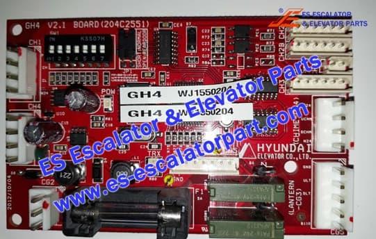 Hyundai elevator Board GH4 204C2551