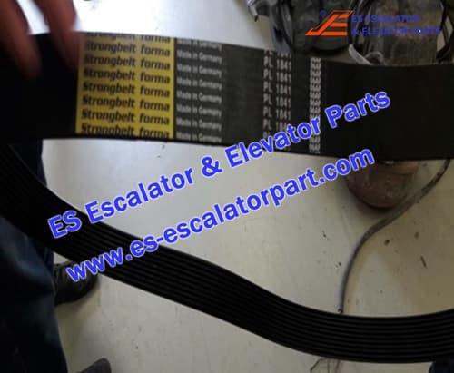THYSSEN Escalator TUGELA 945 poly-V belt 12 grooved