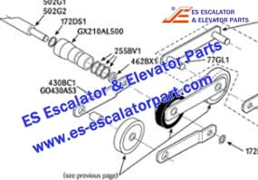 Escalator 255BV1 Step chain axle ring