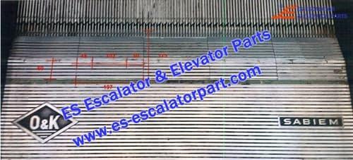 O&K Escalator Parts Comb Plate