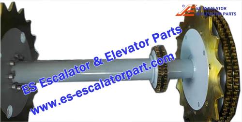ESThyssenkrupp Escalator Parts 1780383300 Main drive Axle