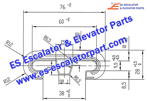 Escalator Parts V-Type 513 Handrail
