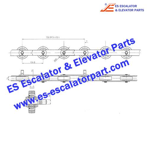 ESLG/SIGMA Escalator SEE30-1200-R5500 Step Chain