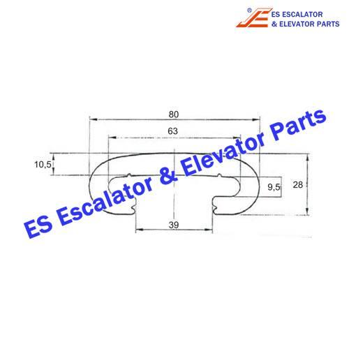ESKONE Escalator KM1368294H01 Handrail